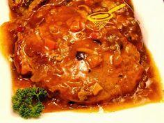 z cukrem pudrem: karkówka w zupie cebulowej Pork, Food And Drink, Menu, Chicken, Cooking, Ethnic Recipes, Kitchens, Meat, Chef Recipes