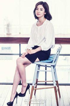 Áo sơ mi - bí quyết thanh lịch của Song Hye Kyo - VnExpress Giải Trí