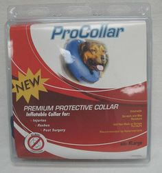 """$33.78-$31.99 Contech ProCollar Protective Collar, Extra Large - Protects pets from reaching injuries, rashes or post surgery wounds. Unlike traditional """"lampshade"""" cones, the procollar allows pets to eat, sleep, and play at ease while staying protected. http://www.amazon.com/dp/B001FK443S/?tag=pin2pet-20"""