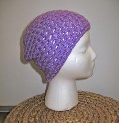 Crochet Beanie: lavender