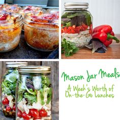 Mason Jar Meals for a Week's Worth of On-the-Go Lunches #Lunch #Recipes #Healthy