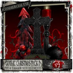 CU Gothic Christmas Pack I [Gothic Inspirations] - $3.85 : Gothic Inspirations