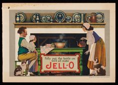 Polly put the kettle on we'll all make Jell-O, The Genesee Pure Food Company, LeRoy, New York | Ephemera collection (EP001) -- Historic New England