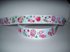 "GROSGRAIN CHRISTMAS GINGERBREAD MAN CANDY 7/8"" RIBBON*YOUR CHOICE 1,3 or 5 YARDS"