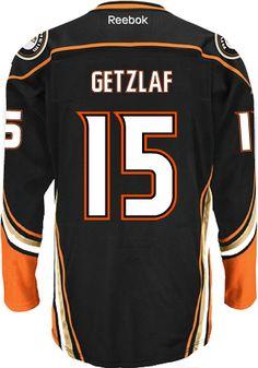 754c1036a Anaheim Ducks Ryan GETZLAF  15  C  Official Home Reebok Premier Replica NHL  Hockey Jersey (HAND SEWN CUSTOMIZATION)
