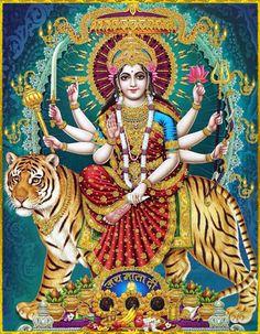 Navratri Puja will help you overcome all your negativities. Flourish with wealth on this Navratri by offering Homam to Lakshmi, Saraswathi & Durga. Durga Picture, Maa Durga Photo, Maa Durga Image, Durga Kali, Durga Goddess, Goddess Art, Shiva Shakti, Durga Images, Lakshmi Images