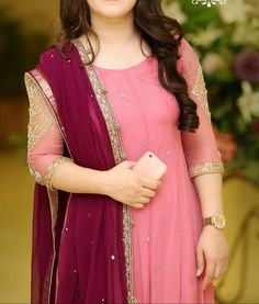 Image may contain: 1 person, standing Pakistani Fashion Party Wear, Pakistani Dress Design, Pakistani Wedding Dresses, Pakistani Outfits, Indian Dresses, Indian Outfits, Indian Fashion, Stylish Dresses For Girls, Stylish Dress Designs