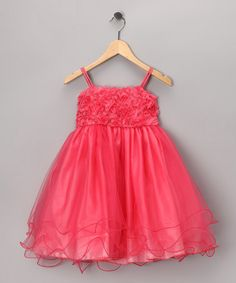 Take a look at this Coral Floral Tulle Dress - Toddler & Girls by Shanil on #zulily today!
