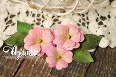 Primula with stitching-Agiart Fabric Flowers, Paper Flowers, Paper Flower Tutorial, Stitching, Blog, Alternative, Scrapbooking, Tutorials, Ideas