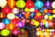 I'm going to get me some lanterns. Hoian, Vietnam.