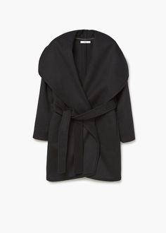Abrigo lana maxi solapas
