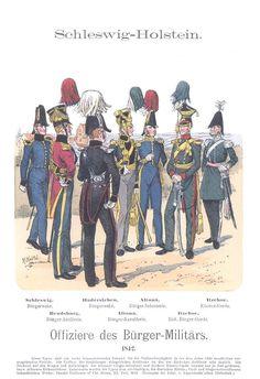 Band XIV #28.- Schleswig-Holstein. Offiziere des Bürger-Militärs 1842.