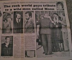 Pete Townshend at Keith Moon's funeral 1978.