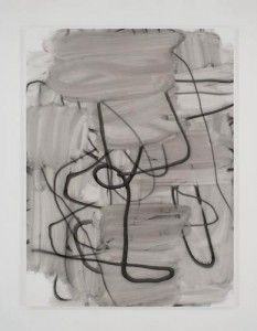 Christopher Wool, She Smiles For The Camera I, 2005. Enamel on linen, 104 X 78 inches. Courtesy Luhring Augustine