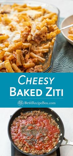 Our Baked Cheesy Ziti is very easy to make at home. Kids will enjoy really enjoy this dinner!