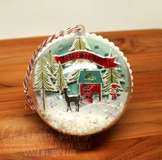 Friday, October 2014 Creativity Within : Dome Christmas Ornaments 3d Christmas, Christmas Paper Crafts, Christmas Ornaments To Make, Stampin Up Christmas, Christmas Makes, Christmas Projects, Handmade Christmas, Holiday Crafts, Christmas Decorations