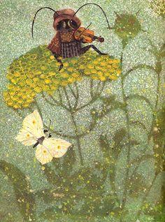 Jan Kudlacek cırcır böceği size en güzel şarkılarını söylüyor.
