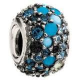 Chamilia Jeweled Kaleiodscope  Blue & Black Swarovski