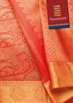 Absolutely stunning!! Red bridal saree with auspicious mango motifs all over…