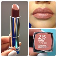 "Maybelline color sensational ""Totally toffee"" The perfect nude for my olive skin. Does not wash me out."
