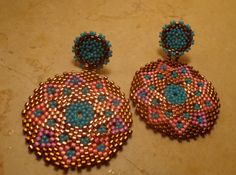 Tutorial Earrings Summer Afternoons - Peyote technique and Delica Miyuki Seed Beads