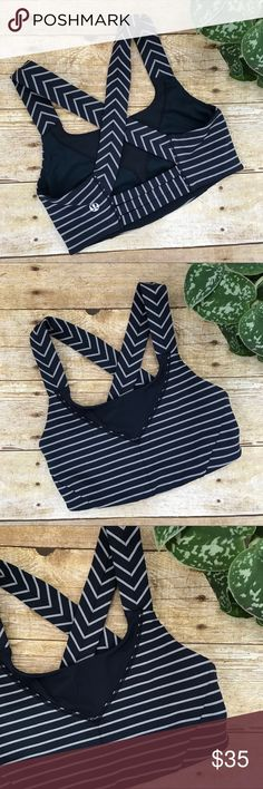 Lululemon Striped Sports Bra So cute! Excellent condition! lululemon athletica Intimates & Sleepwear Bras