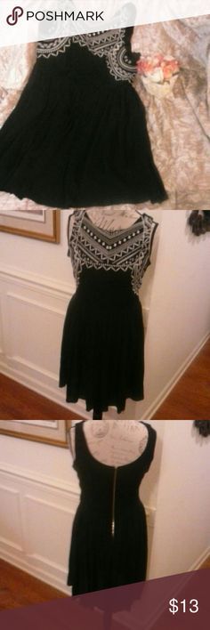 JUST IN!! NWOT Xhilaration Dress Super Cute! New without tags, super cute dress with white embroidered bodice front, back plain. Scoop neck and zipper closure in back. No defects. Bundle and save! Xhilaration Dresses Mini