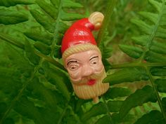 Celluloid Santa Claus Head to Collect or by melmacparadise on Etsy
