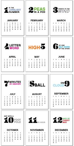 Lula Louise : calendrier 2012