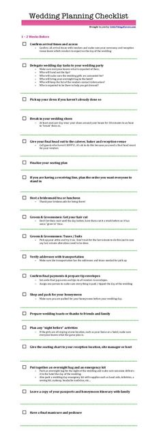Wedding Planning Checklist \ Budget Tool Wedding planning - wedding coordinator resume