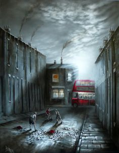 Bob Barker Art : Bread and Jam Landscape Drawings, Landscape Art, Bus Art, Building Drawing, Flamboyant, Art Themes, Abstract Photography, Pictures To Paint, Famous Artists