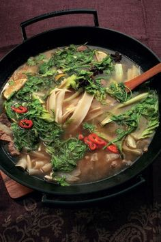 Mutton soup with noodles (Суп из баранины с лапшой)