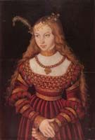 """Sybilla of Cleves, about 1540 - """"Cranach"""" gown"""