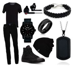 """Black Hole"" by ninjareaper ❤ liked on Polyvore featuring Dolce&Gabbana, Topman, Converse, Nixon, Hurley, Under Armour, Zack, Belk & Co., Bling Jewelry and men's fashion"