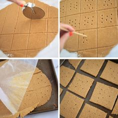 How to Make Homemade Graham Crackers - Process (wonder how it will taste if I do half whole wheat - should try soon)