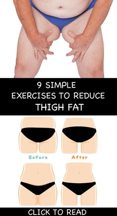 """9 Simple & Best Exercises To Reduce Thigh Fat Fast At Home ! Having fat or plump does mean that you cannot get rid of it, and also this should not make you think negatively about yourself. And as the proverb goes, """"when there is a will, there is a way"""". Reduce Thigh Fat, Exercise To Reduce Thighs, Reduce Belly Fat, Lose Belly Fat, Thinner Thighs, Best Fat Burning Workout, Thigh Exercises, Fitness Exercises, Belly Fat Workout"""