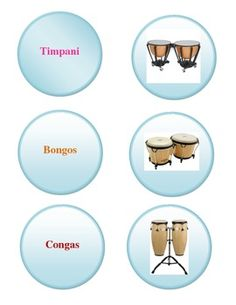 Percussion Family Game - Centers