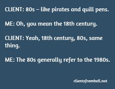 80s, 18th Century Pirates – same thing  #Ux #funny