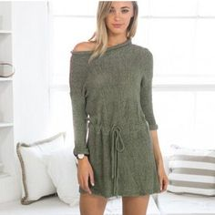 Knit Mini Dress Pullover with Belt    https://zenyogahub.com/collections/clothing/products/knit-mini-dress-pullover-with-belt