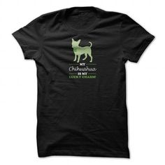 Awesome Chihuahua Lovers Tee Shirts Gift for you or your family your friend:  My Chihuahua is my Lucky Charm Tee Shirts T-Shirts
