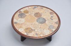 Tue Poulsen Ceramic Art Tiles Coffee Table, Haslev, Denmark, 1963 4