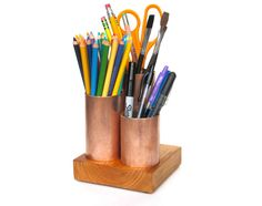 Office Desk Accessory Gift  Industrial Recycled by Latitude59