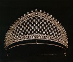 This is the original diamond lattice kokshnic made for the Prussian Royals, there are both differences and similarities between this and the previous pin.