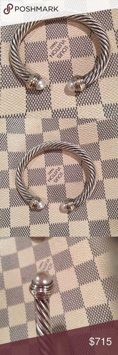 DAVID YURMAN big pearl bracelet with 14K gold!!! DAVID YURMAN big pearl bracelet with 14K gold!!! David Yurman Jewelry Bracelets