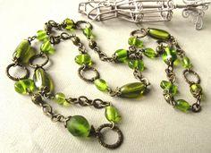 tettidesign.green.glass.bronze.necklace.jpg (790×575)