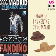 #toros 2015 #Madrid Las Ventas ¡COMPRA YA TUS ENTRADAS EN NUESTRA WEB! http://www.servitoro.com/Entradas-Toros-Las-Ventas-Domingo-29-Marzo.html  ¡NO TE LO PUEDES PERDER!