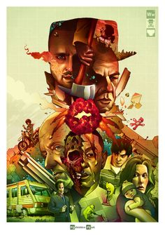 Sick Breaking Bad art! pinkman, dos hermanos, heisenberg, and your mom.
