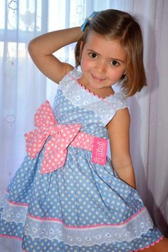 {Customary and custom baby gown, creates the best answer. Little Girl Outfits, Little Girl Dresses, Kids Outfits, Frock Patterns, Baby Dress Patterns, Baby Dress Design, Sewing Kids Clothes, Baby Girl Dresses, Toddler Dress