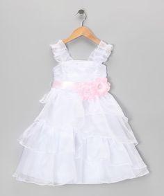 Love this Rose Flower Tiered Dress - Toddler & Girls by Cinderella Couture on #zulily! #zulilyfinds