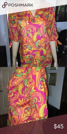 Cotton, rayon printed blouse Summer color printed blouse martha Ibanez Tops Blouses